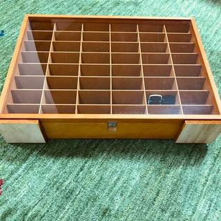コレクションケース 木製 ミニカーケース(小物入れ)