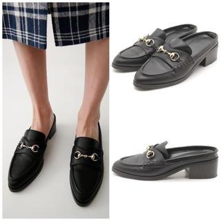 マウジー(moussy)のMOUSSY BIT ローファー ブラック S(ローファー/革靴)