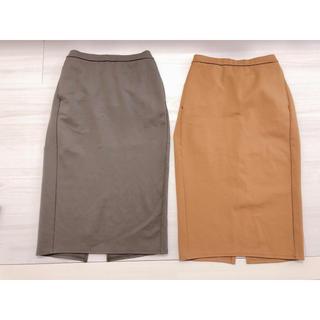 ジーユー(GU)の【4/26 出品停止】GU カットソータイトスカート 2枚セット(ロングスカート)