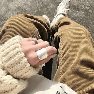 TODAYFUL - 【新品☆未使用品】ラスト1点!マットシルバー ワイド リング 指輪
