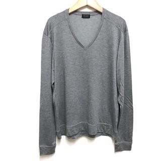 JOSEPH - 定1.4万美品 ジョゼフオム シルク混Vネック長袖カットソー48グレー