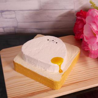 アザラシ蜂蜜トースト 手作りスクイーズ フェイクフード ハンドメイドスクイーズ(その他)