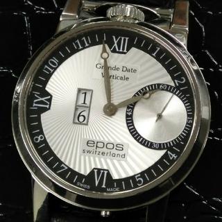 エポス(EPOS)のケース美品EPOSエポス 手巻き 裏スケ 定価約200,000円 スイス製(腕時計(アナログ))