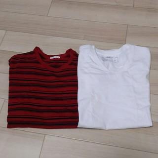 ジーユー(GU)のGU メンズTシャツ 2枚セット S(Tシャツ/カットソー(半袖/袖なし))