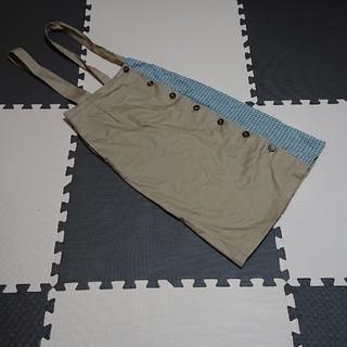 シマムラ(しまむら)のサスペつきタイトスカート(ひざ丈スカート)