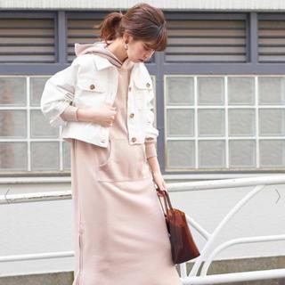ナチュラルクチュール(natural couture)のコンパクトショートブルゾン ホワイト(ブルゾン)