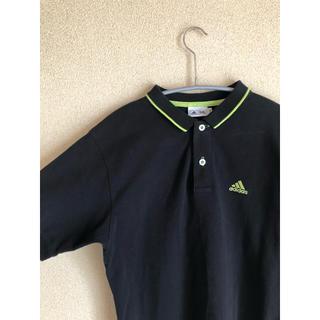 アディダス(adidas)のアディダス ポロシャツ 蛍光グリーン ブラック スポーツ ストリート モード(ポロシャツ)