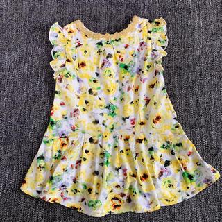 アナスイミニ(ANNA SUI mini)のアナスイミニ ANNA SUI mini 花柄ワンピース サイズ80(ワンピース)