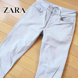 ザラ(ZARA)の美品 EUR36 ZARA ザラ レディース スキニーパンツ グレー(スキニーパンツ)