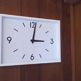 ムジルシリョウヒン(MUJI (無印良品))の限定価格★新品★ 無印良品 駅の時計・電波ウォールクロック・アイボリー 掛時計(掛時計/柱時計)