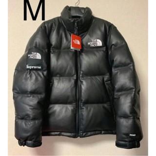 シュプリーム(Supreme)のsupreme north face leather nuptse jacket(ダウンジャケット)