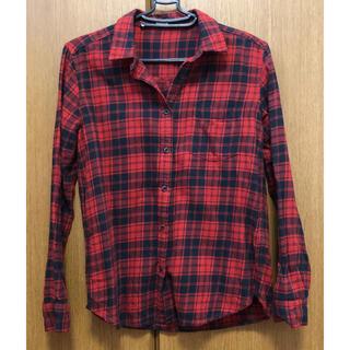 ジーユー(GU)のチェックシャツ 長袖 ギンガムチェックシャツ Sサイズ(シャツ/ブラウス(長袖/七分))