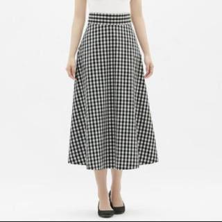 ジーユー(GU)のGU ギンガムチェック スカート(ロングスカート)