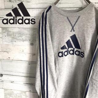 アディダス(adidas)の【激レア】アディダス adidas☆ビッグロゴ サイドライン スウェット(スウェット)