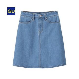 ジーユー(GU)の【新品】GUデニムAラインスカート(ミニスカート)