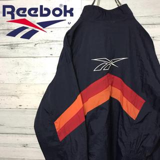 リーボック(Reebok)の【激レア】リーボック☆ベクター 刺繍ビッグロゴ ナイロンジャケット 90s(ナイロンジャケット)