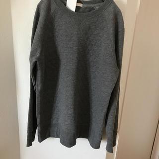 ジーユー(GU)の新品☆トレーナー☆150㎝☆GU スウェットシャツ ダイヤパターン☆グレー(Tシャツ/カットソー)