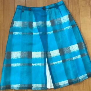 シルク の 膝丈 巻きスカート(ひざ丈スカート)