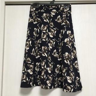 ジーユー(GU)の花柄スカート gu  sサイズ(ひざ丈スカート)