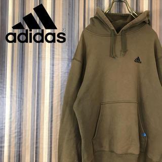 アディダス(adidas)の90s adidas アディダス スウェット パーカー ワンポイント 刺繍ロゴ (スウェット)