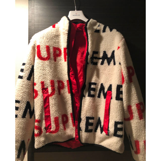 シュプリーム(Supreme)のsupreme 18aw Logo Fleece Jacket Mサイズ(ブルゾン)