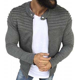メンズ 軽量 ジップアップ スマートスウェットジャケット(その他)