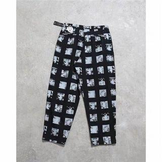 Cavempt black print pants カジュアル パンツ M(チノパン)