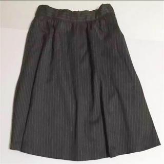 スカート チャコールグレー(ひざ丈スカート)