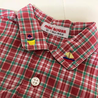 ミキハウス(mikihouse)のミキハウス 刺繍襟 シャツ 90(ブラウス)
