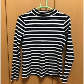 ジーユー(GU)の長袖 ボーダー グリーン(Tシャツ(長袖/七分))