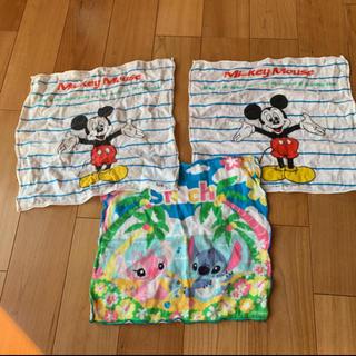 ディズニー(Disney)のミッキー スティッチ ガーゼハンカチ(その他)