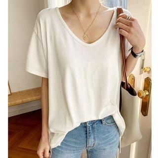 ザラ(ZARA)のnaning9 韓国ファッション シンプルTシャツ(Tシャツ(半袖/袖なし))