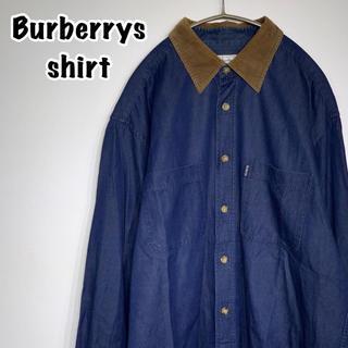 バーバリー(BURBERRY)のBurberry バーバリー シャツ 襟コーデュロイ ヴィンテージ(シャツ)