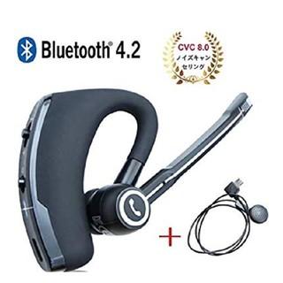 Bluetooth 4.2 イヤホン 耳掛け型 マイク内蔵(ヘッドフォン/イヤフォン)