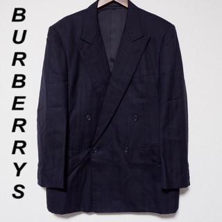 バーバリー(BURBERRY)の【BURBERRYS】テーラードジャケット ダブル ストライプ ネイビー (テーラードジャケット)