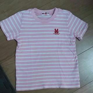 ミキハウス(mikihouse)のミキハウス ボーダー Tシャツ 半袖 110サイズ(Tシャツ/カットソー)