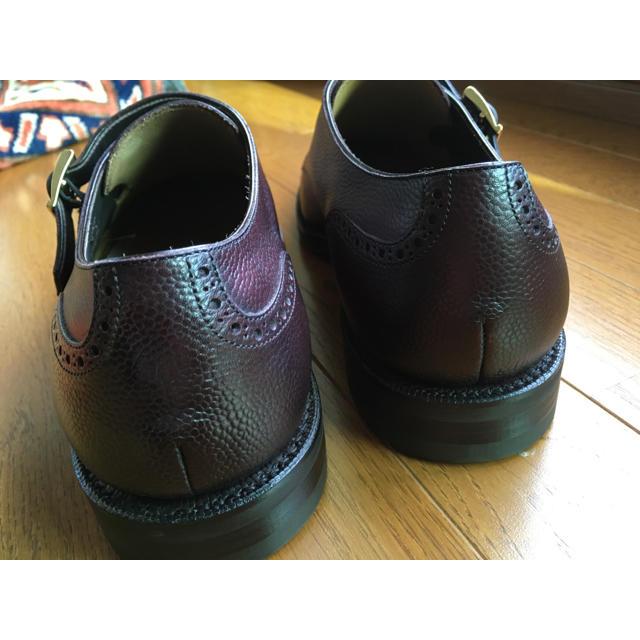 SANYO YAMACHO(サンヨウヤマチョウ)の新品未使用 三陽山長 源七郎 ダブルモンク UK8 バーガンディー メンズの靴/シューズ(ドレス/ビジネス)の商品写真