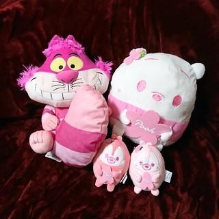 ディズニー ぬいぐるみ プーさん チップ&デール チェシャ猫 セット ピンク 桜
