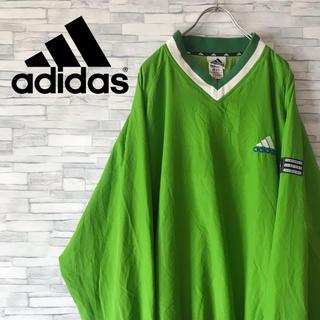 アディダス(adidas)のアディダス 希少カラー 90s プルオーバー ジャケット Vネック ビックサイズ(ブルゾン)