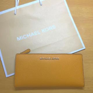 マイケルコース(Michael Kors)のマイケルコース MICHAEL KORS 長財布 イエロー 黄色 財布(財布)