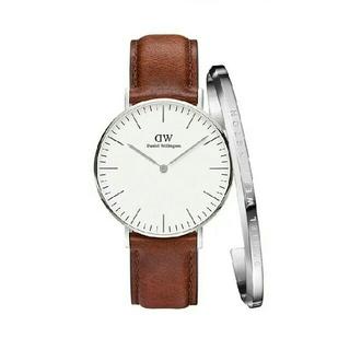 ダニエルウェリントン(Daniel Wellington)のブラウン 40MM ダニエルウェリントン 腕時計とバングル付き ギフト セット(腕時計(アナログ))
