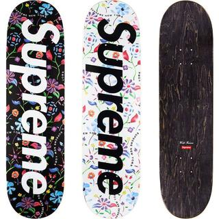 シュプリーム(Supreme)の【黒白セット!】Airbrushed Floral Skateboard(その他)