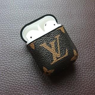 アップル(Apple)のAirPods ケース ブランド 柄 モノグラム 保護 カバー(ヘッドフォン/イヤフォン)