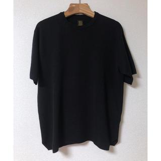 BATONER バトナー スムース ニットTシャツ黒 ブラック(ニット/セーター)