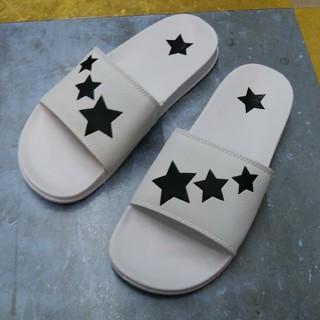 新品 スター デザイン サンダル 26.5センチ 送料無料 ホワイト 白 流れ星(サンダル)