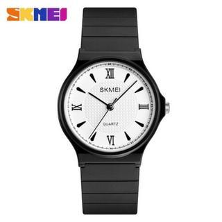 SKMEI クォーツ腕時計 ステンレスチール☆シンプル(腕時計(アナログ))