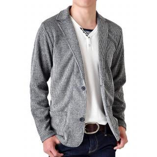 テーラードジャケット メンズ ジャケット ストレッチ シャドーストライプ/Y(テーラードジャケット)