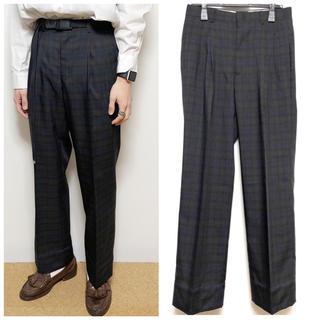 USED Check Two Tucks Pants 原宿 下北 高円寺 (スラックス)
