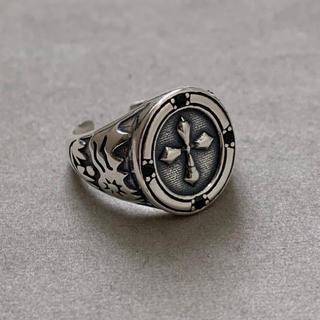 シルバー925 クロスデザインカレッジリング シルバーリング キリスト (リング(指輪))
