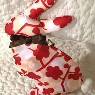 エコバック  ウサギ  ポーチ  バッグ  巾着袋  美品  花柄(エコバッグ)